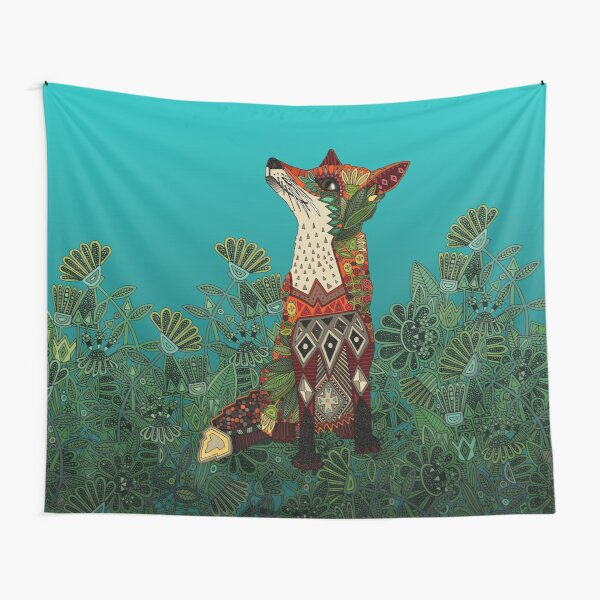 floral fox Tapestry