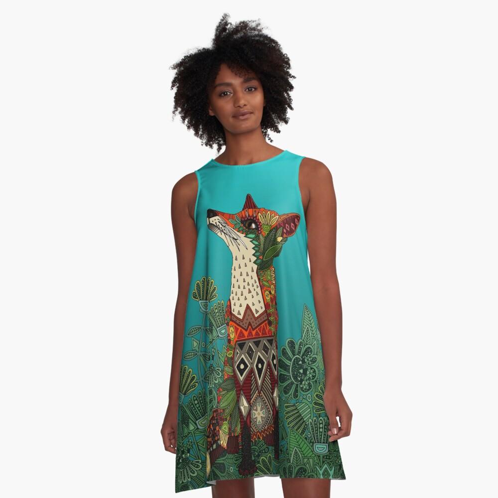floral fox A-Line Dress