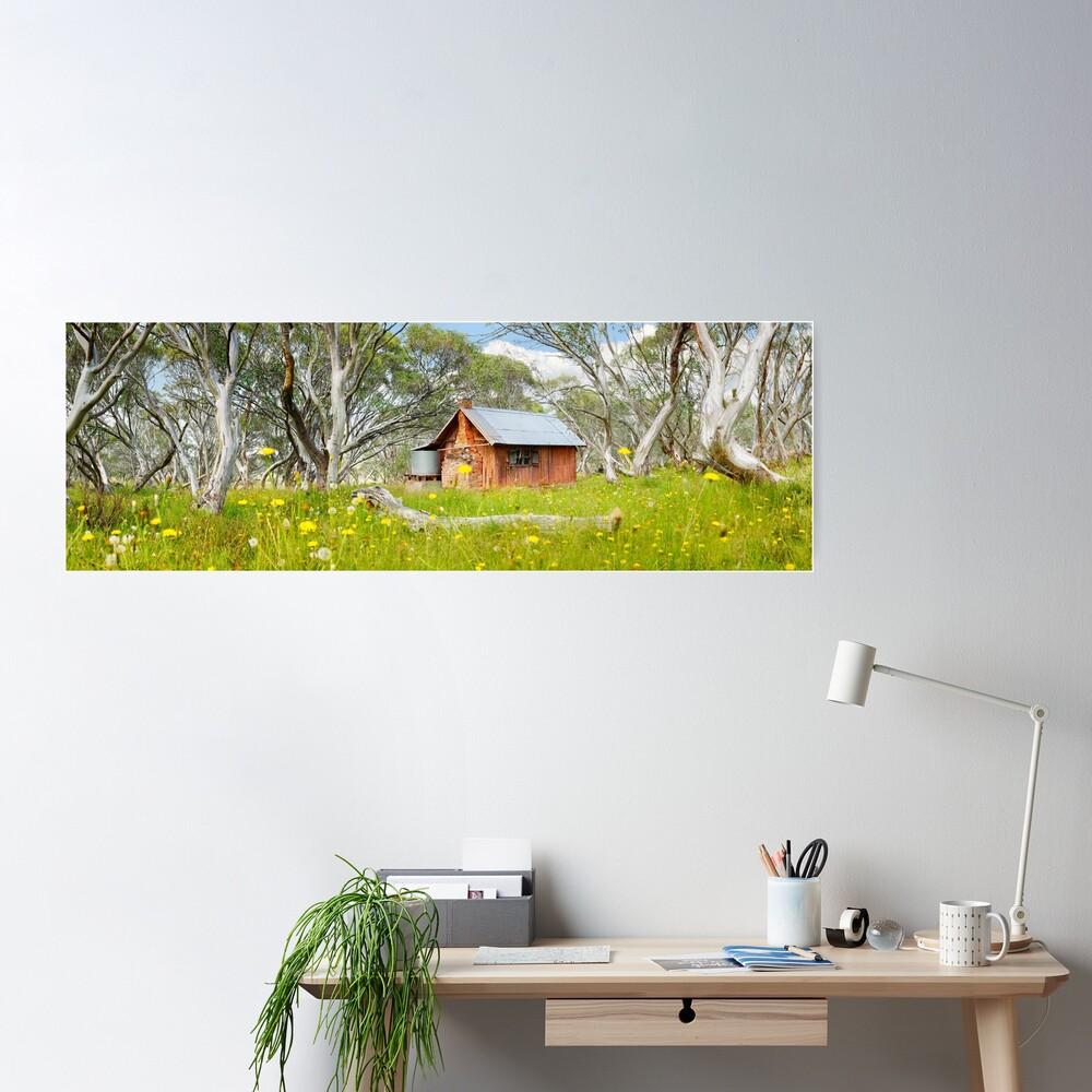 JB Plain Hut, Mt Hotham, Victoria, Australia Poster