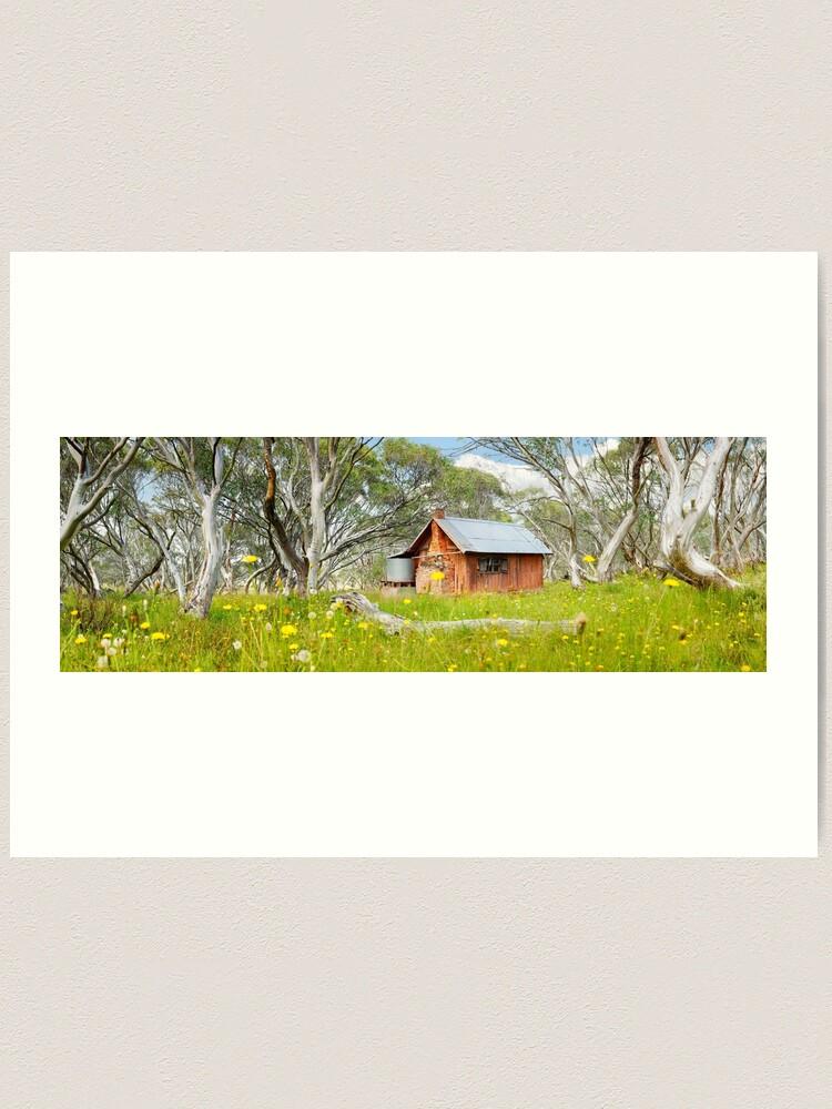 Alternate view of JB Plain Hut, Mt Hotham, Victoria, Australia Art Print