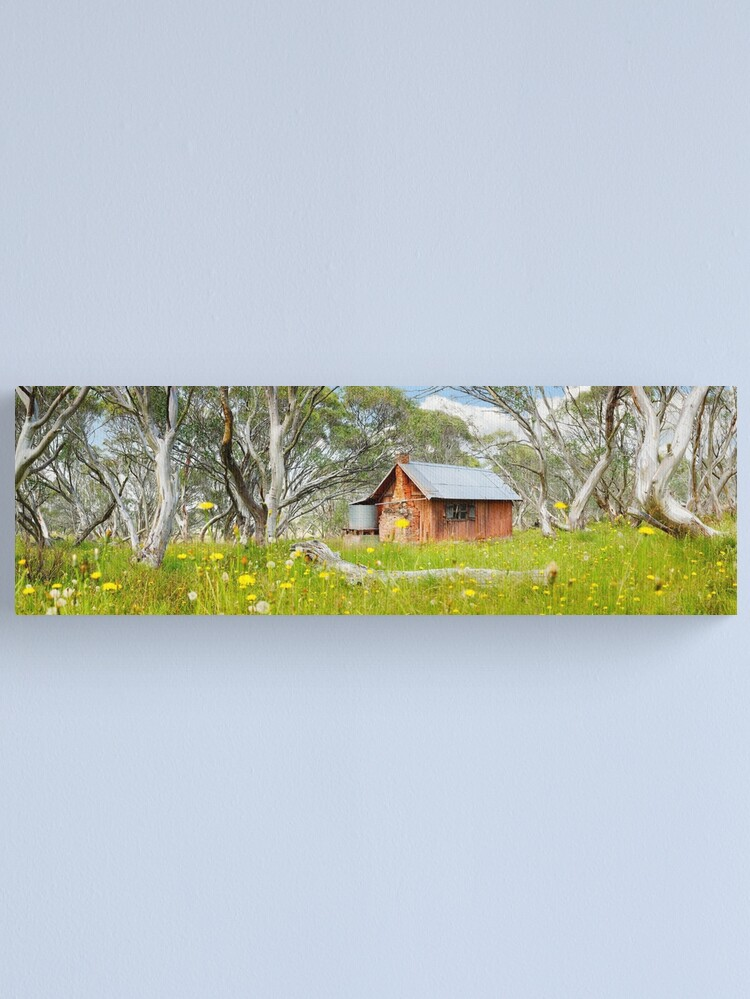 Alternate view of JB Plain Hut, Mt Hotham, Victoria, Australia Canvas Print
