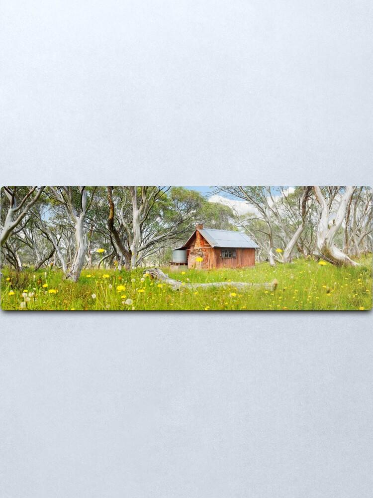 Alternate view of JB Plain Hut, Mt Hotham, Victoria, Australia Metal Print