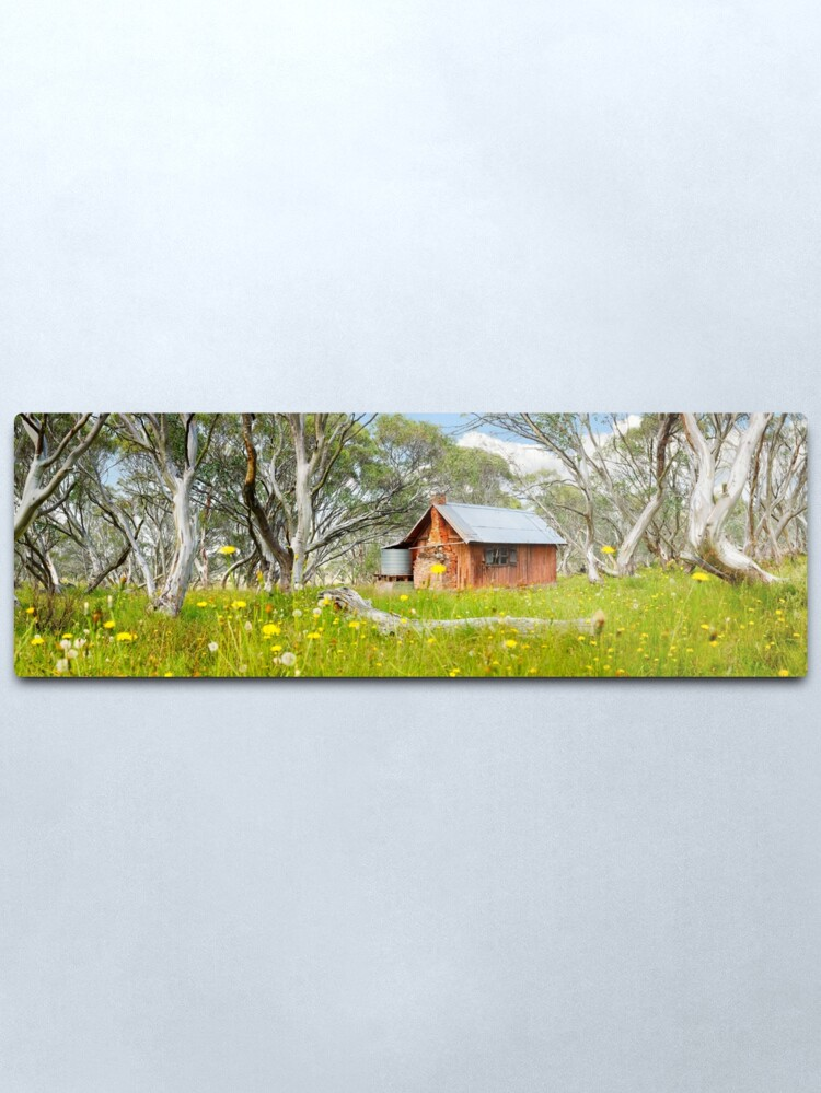 Alternate view of JB Plain Hut, Mt Hotham, Victoria, Australia Metal Print