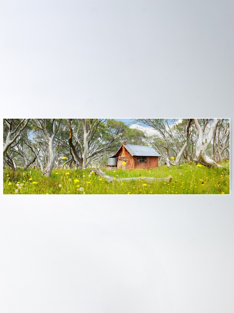 Alternate view of JB Plain Hut, Mt Hotham, Victoria, Australia Poster