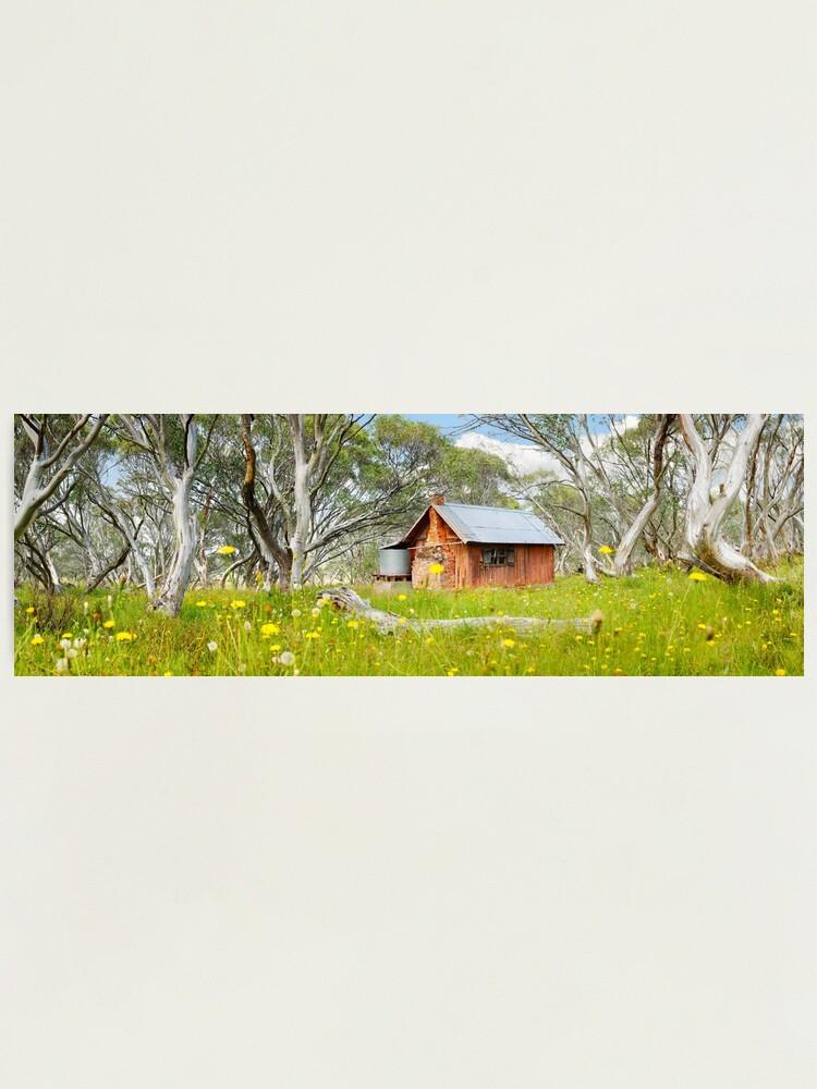 Alternate view of JB Plain Hut, Mt Hotham, Victoria, Australia Photographic Print