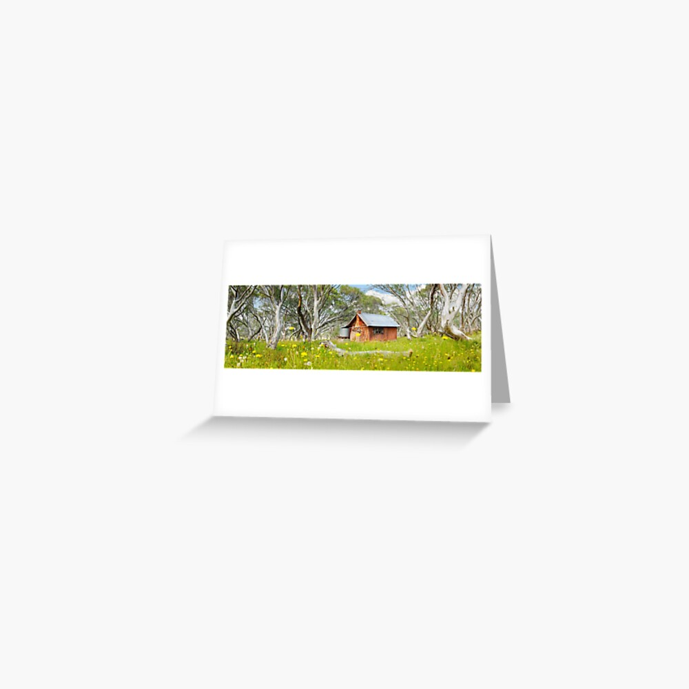 JB Plain Hut, Mt Hotham, Victoria, Australia Greeting Card