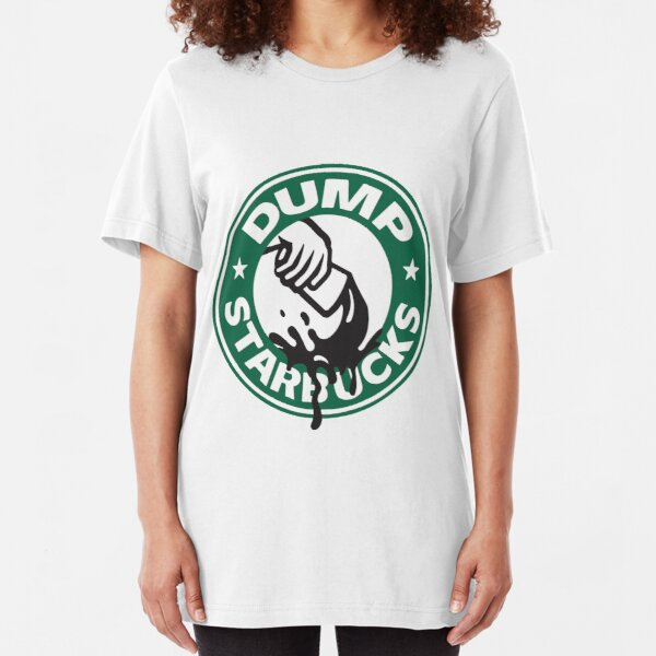 Respect Our Law Officers DUMP Starbucks  Slim Fit T-Shirt