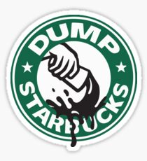 Respect Our Law Officers DUMP Starbucks  Glossy Sticker