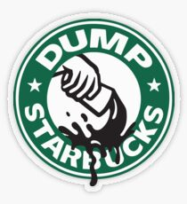 Respect Our Law Officers DUMP Starbucks  Transparent Sticker