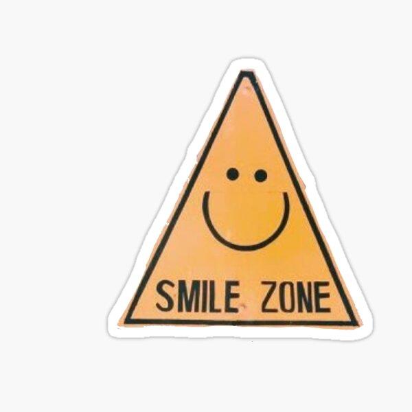 smile zone sign Sticker