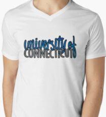 University of Connecticut Two Tone Men's V-Neck T-Shirt