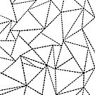 Abstract Dotted Lines Black on White by ProjectM