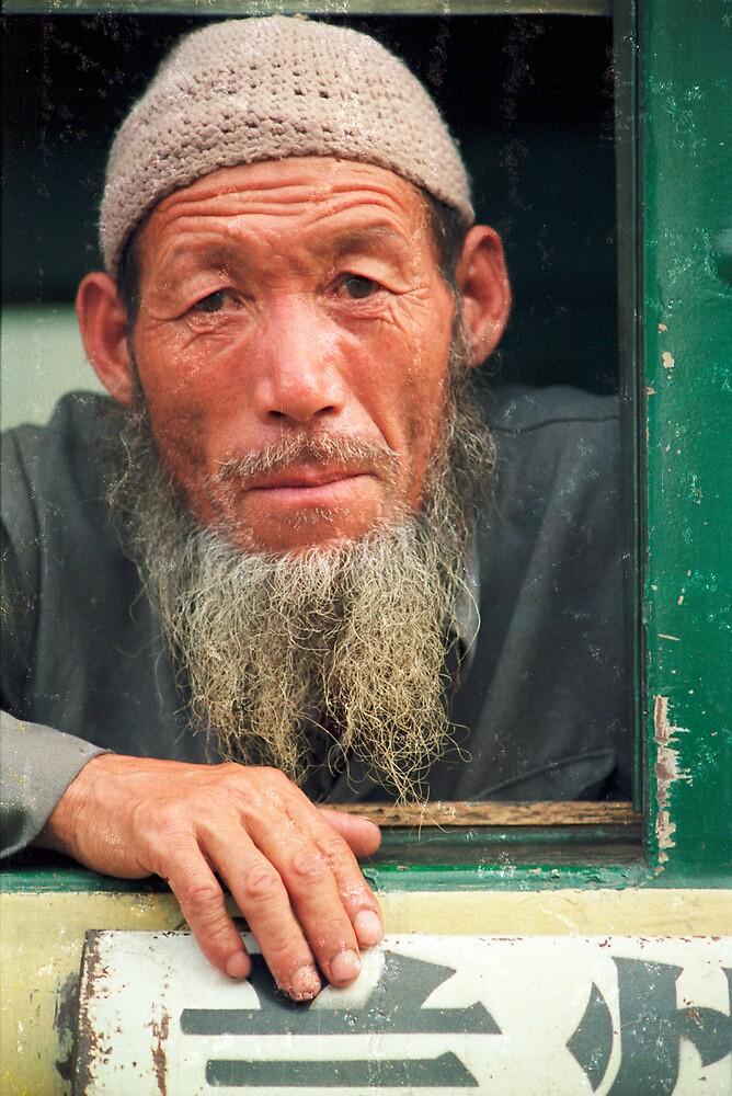 Railway passenger, China 1987 by jensNP