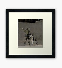 Banksy - The West Bank Framed Print