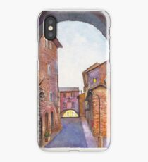 Assisi Street, Umbria, Italy iPhone Case/Skin