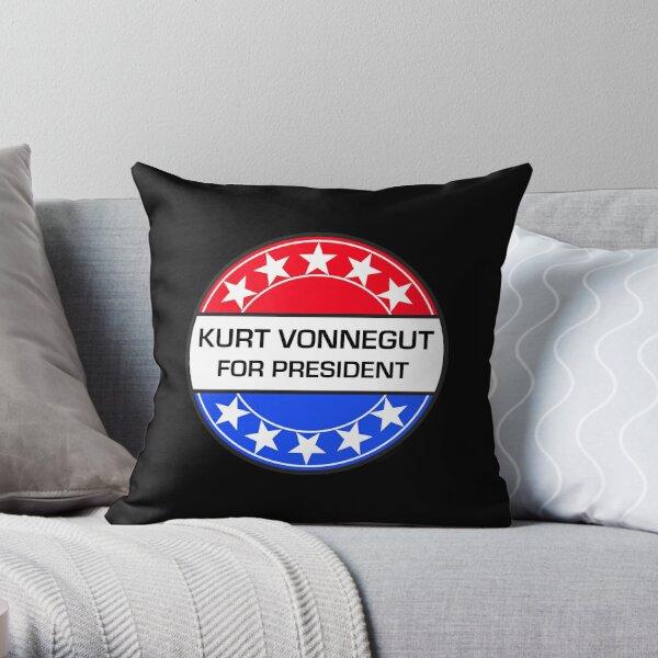 Kurt Vonnegut For President Throw Pillow