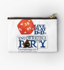 The Incorrigible Party rolls 20s Zipper Pouch