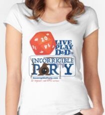 The Incorrigible Party rolls 20s Fitted Scoop T-Shirt