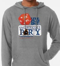 The Incorrigible Party rolls 20s Lightweight Hoodie