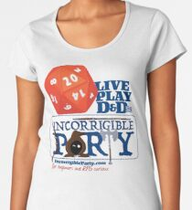 The Incorrigible Party rolls 20s Premium Scoop T-Shirt