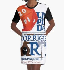 The Incorrigible Party rolls 20s Graphic T-Shirt Dress