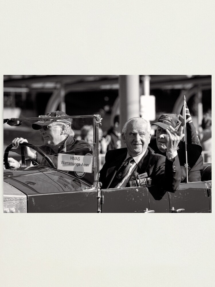 Alternate view of Melbourne ANZAC day parade 2013 - 01 Photographic Print