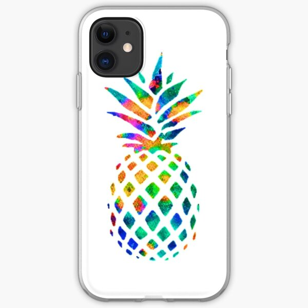 Rainbow Pineapple iPhone Soft Case