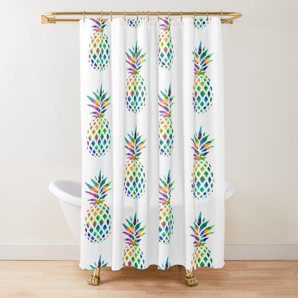 Rainbow Pineapple Shower Curtain