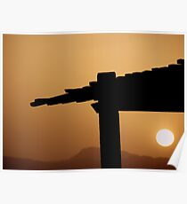 Red Sea Sunset, Jordan Poster