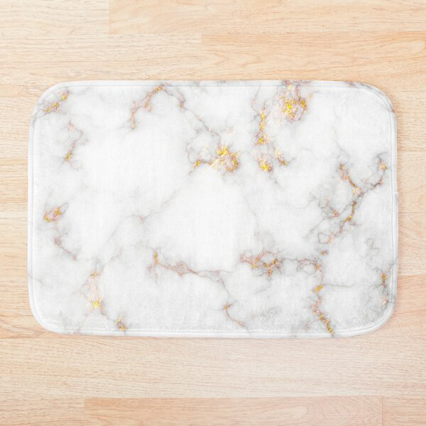 Marble - Gold Bath Mat
