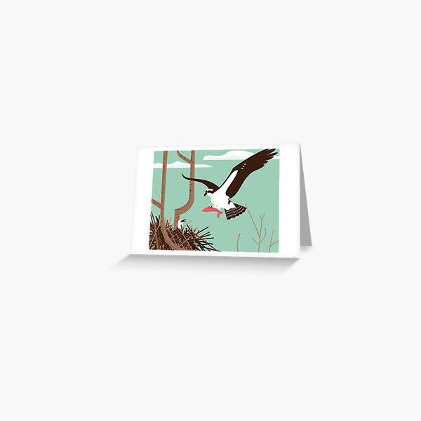 At the Osprey Nest Greeting Card