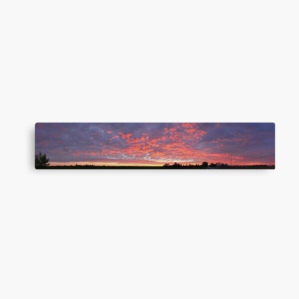 Sunrise Over Farm Fields  Canvas Print