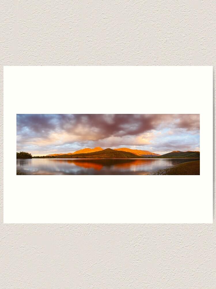 Alternate view of Lake Buffalo Sunset, Victoria, Australia Art Print