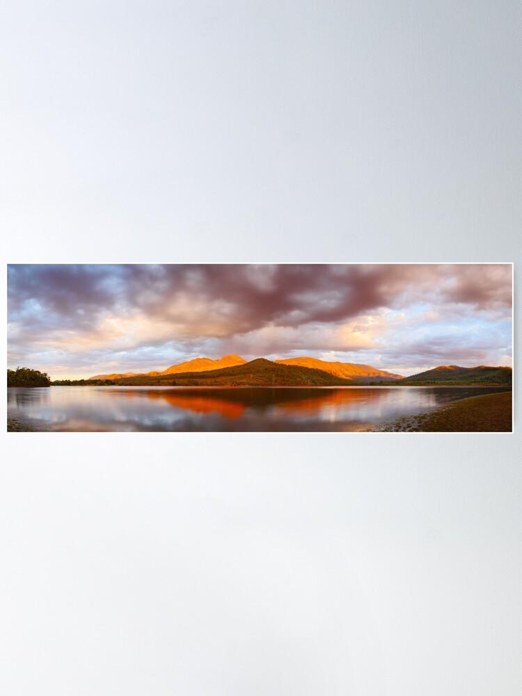 Alternate view of Lake Buffalo Sunset, Victoria, Australia Poster