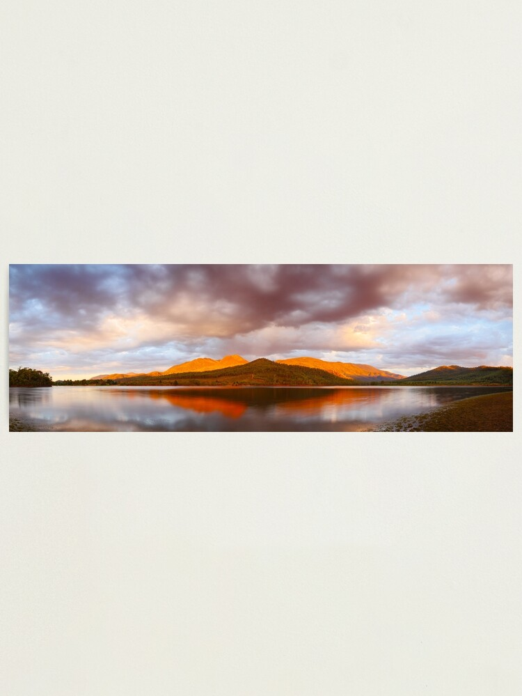 Alternate view of Lake Buffalo Sunset, Victoria, Australia Photographic Print
