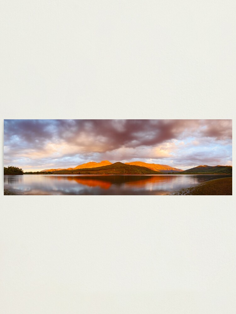 Alternate view of Lake Buffalo Sunset, Victoria, Australia Photographic Print
