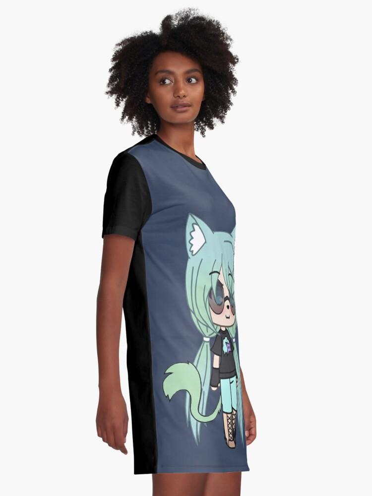 Gacha Life Series Chloe The Tomboy Graphic T Shirt Dress By