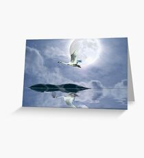 """Wilderness Moon"" Greeting Card"