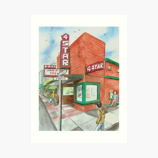 """4-Star Theatre"" by Robin Galante Art Print"