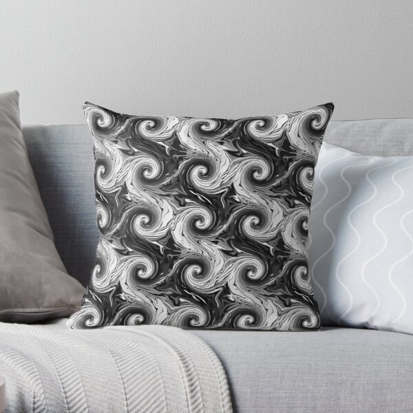 Chaos into Order Swirls Throw Pillow
