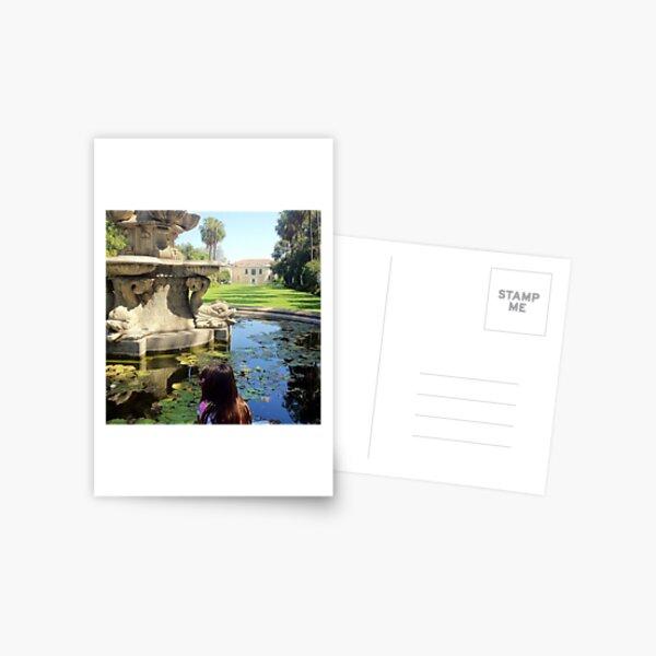 A Fountain in the Garden Postcard