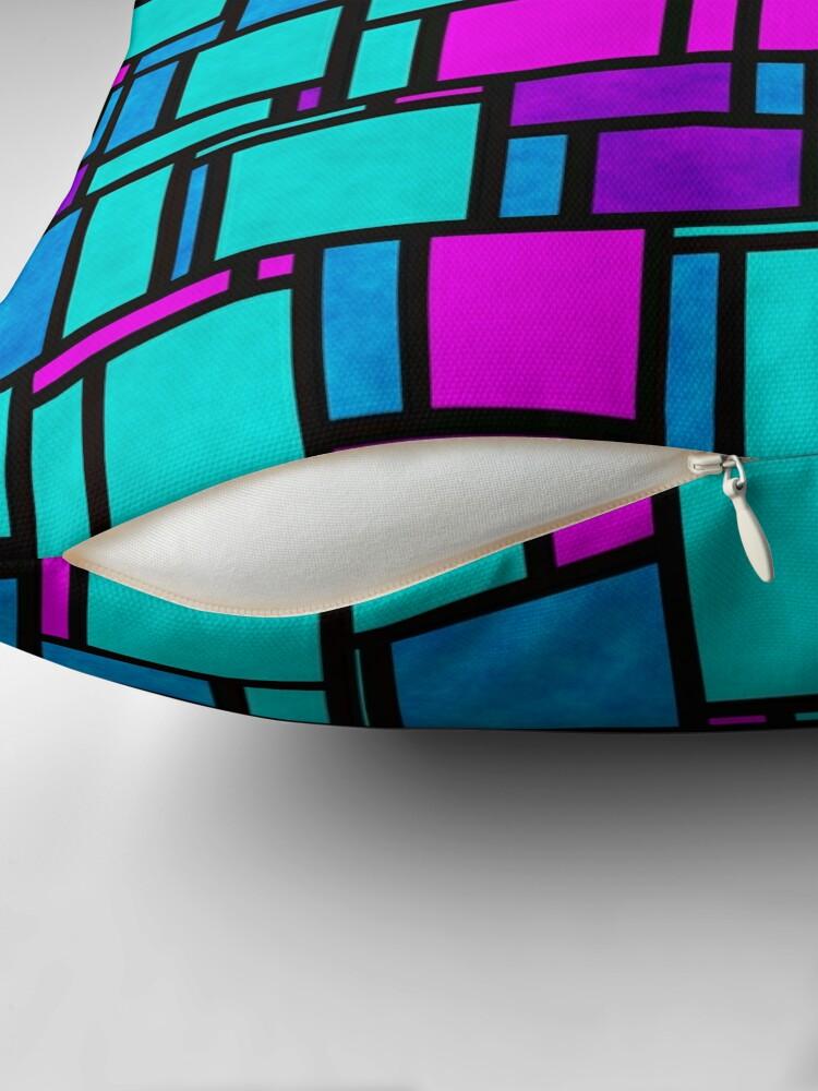 Alternate view of Jewel Tone Mondrian Floor Pillow