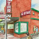 Greeting Card ONLY: 4-Star Theater by Robin Galante