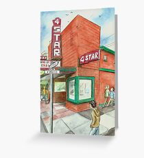 Greeting Card ONLY: 4-Star Theater Greeting Card
