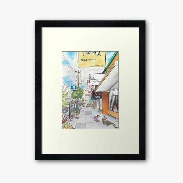 Neighborhood Portrait: Balboa between 35th & 36th Aves Framed Art Print