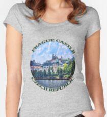 PRAGUE CASTLE TEE SHIRT  - PILLOWS - TOTE BAG- JOURNAL-ECT. Women's Fitted Scoop T-Shirt