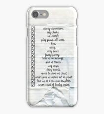 Nanny Checklist iPhone Case/Skin
