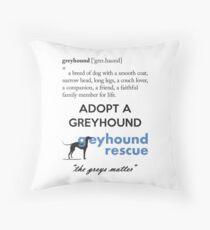 Greyhound Definition Throw Pillow