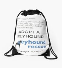 Greyhound Definition Drawstring Bag