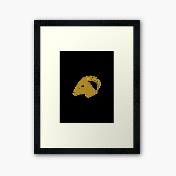 Aries - Zodiac Symbols Framed Art Print